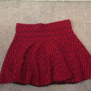 Red and Black skater skirt